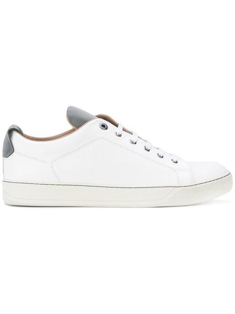 Lanvin Contrast Tongue Sneakers In White
