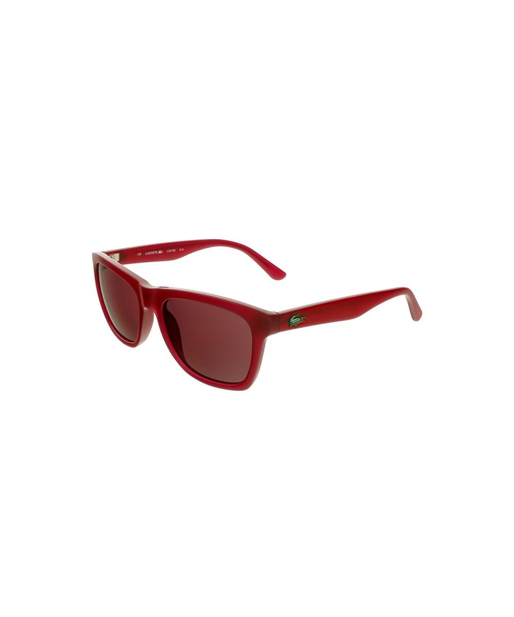 Lacoste L3610s 615 Mauve Rectangle Sunglasses In Purple