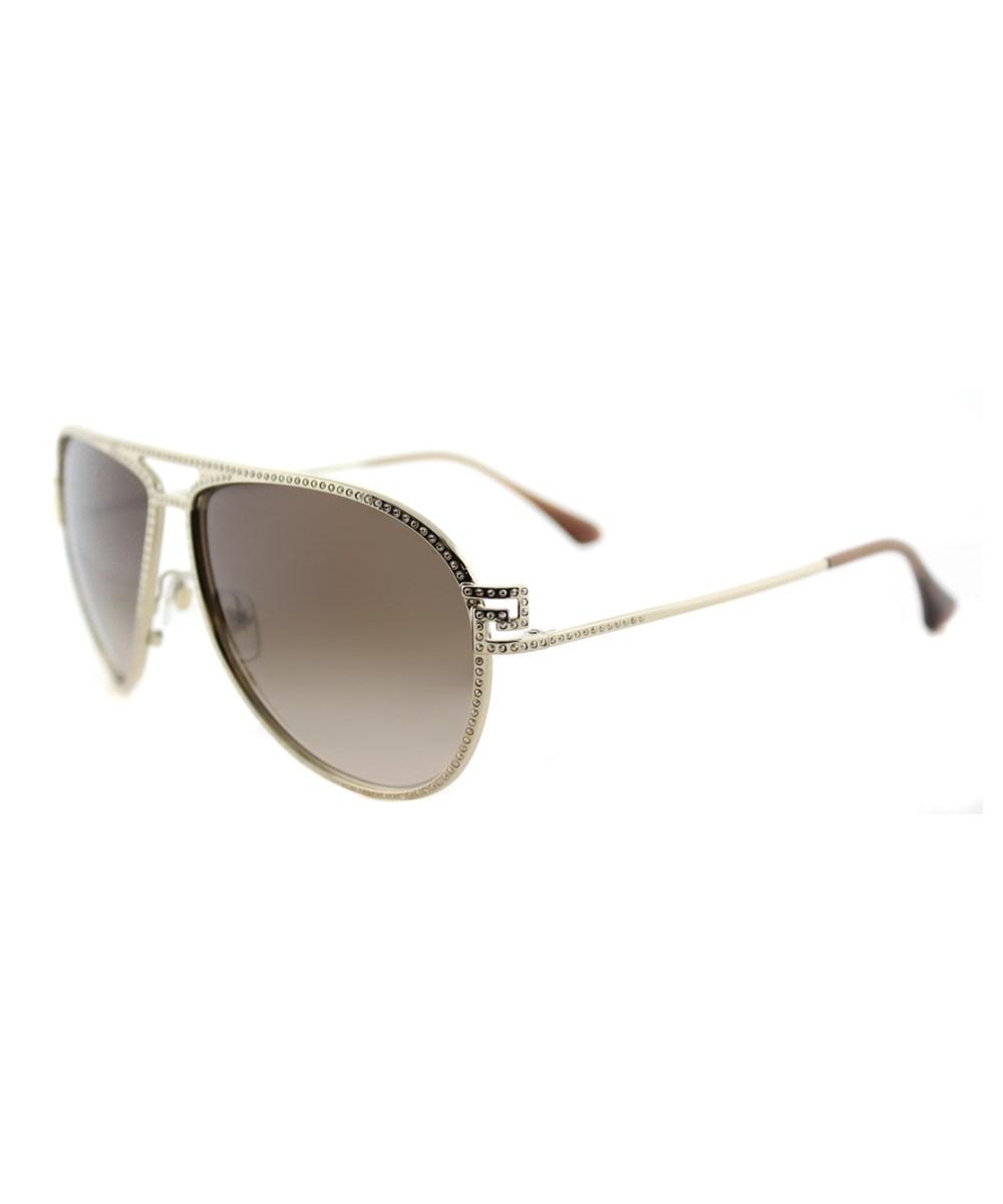 Versace Aviator Metal Sunglasses In Gold