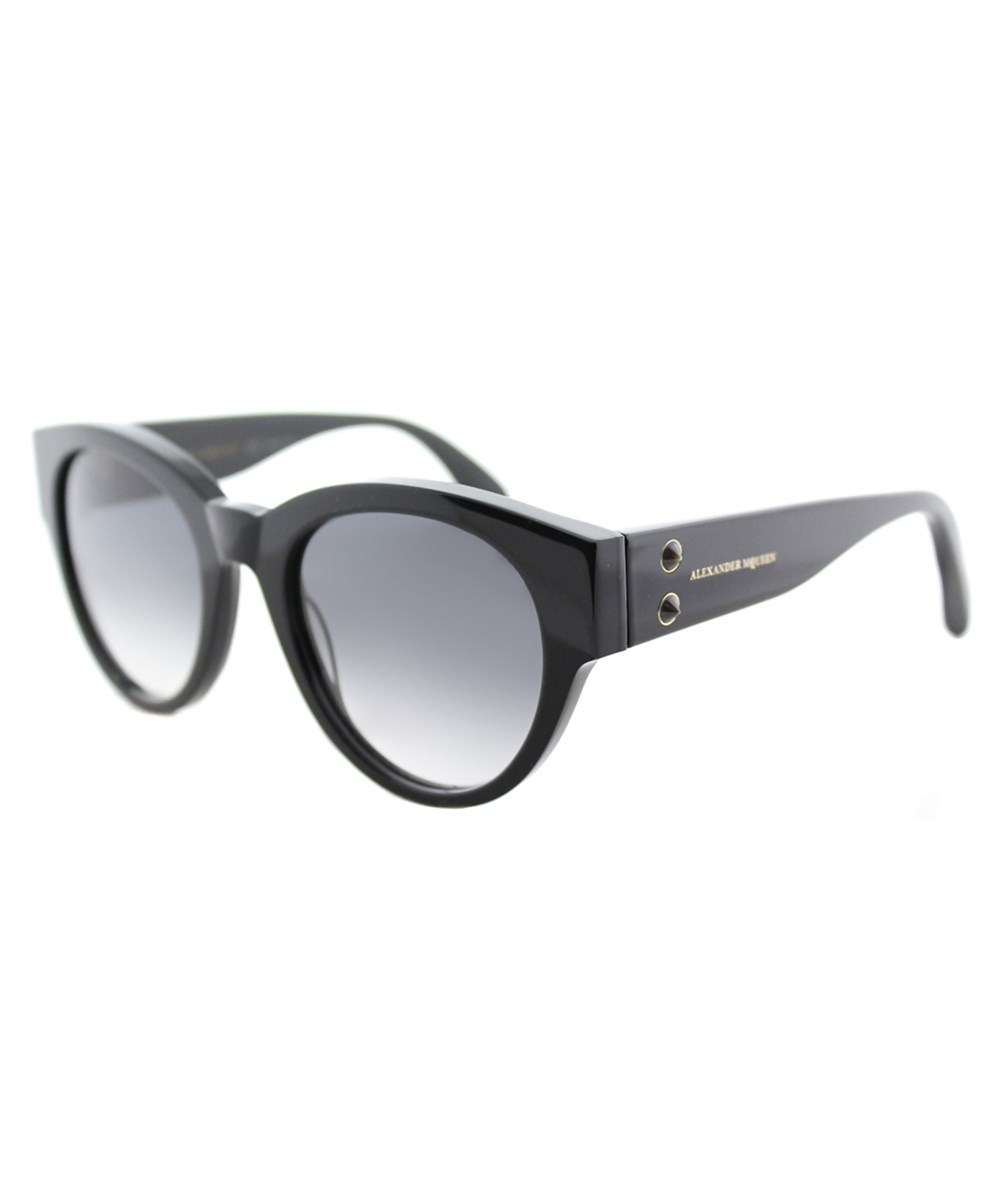 Alexander Mcqueen Mini Rivets Oversized Sunglasses In Black