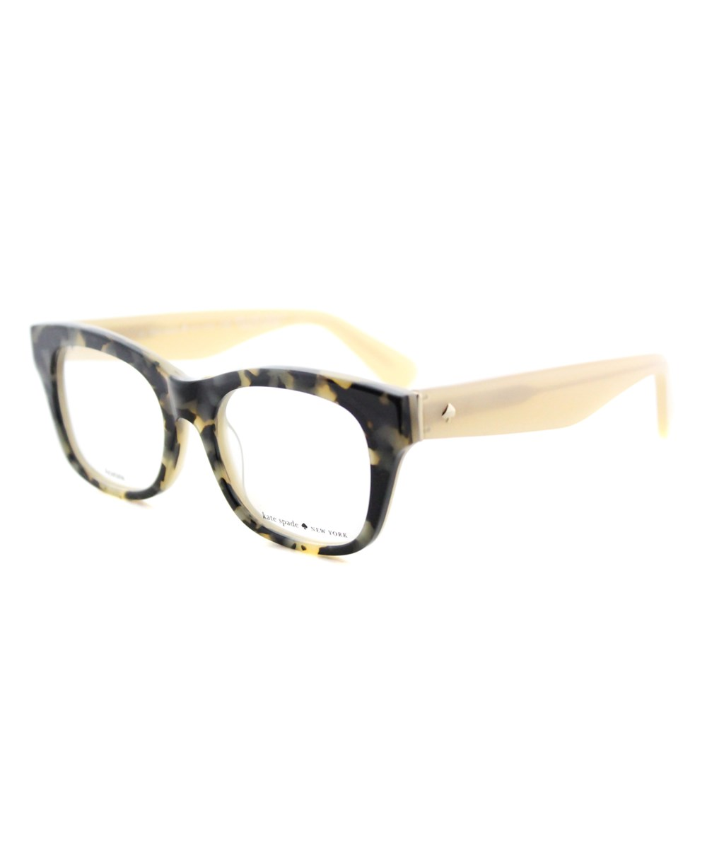Kate Spade Jonnie Square Plastic Eyeglasses In Brown