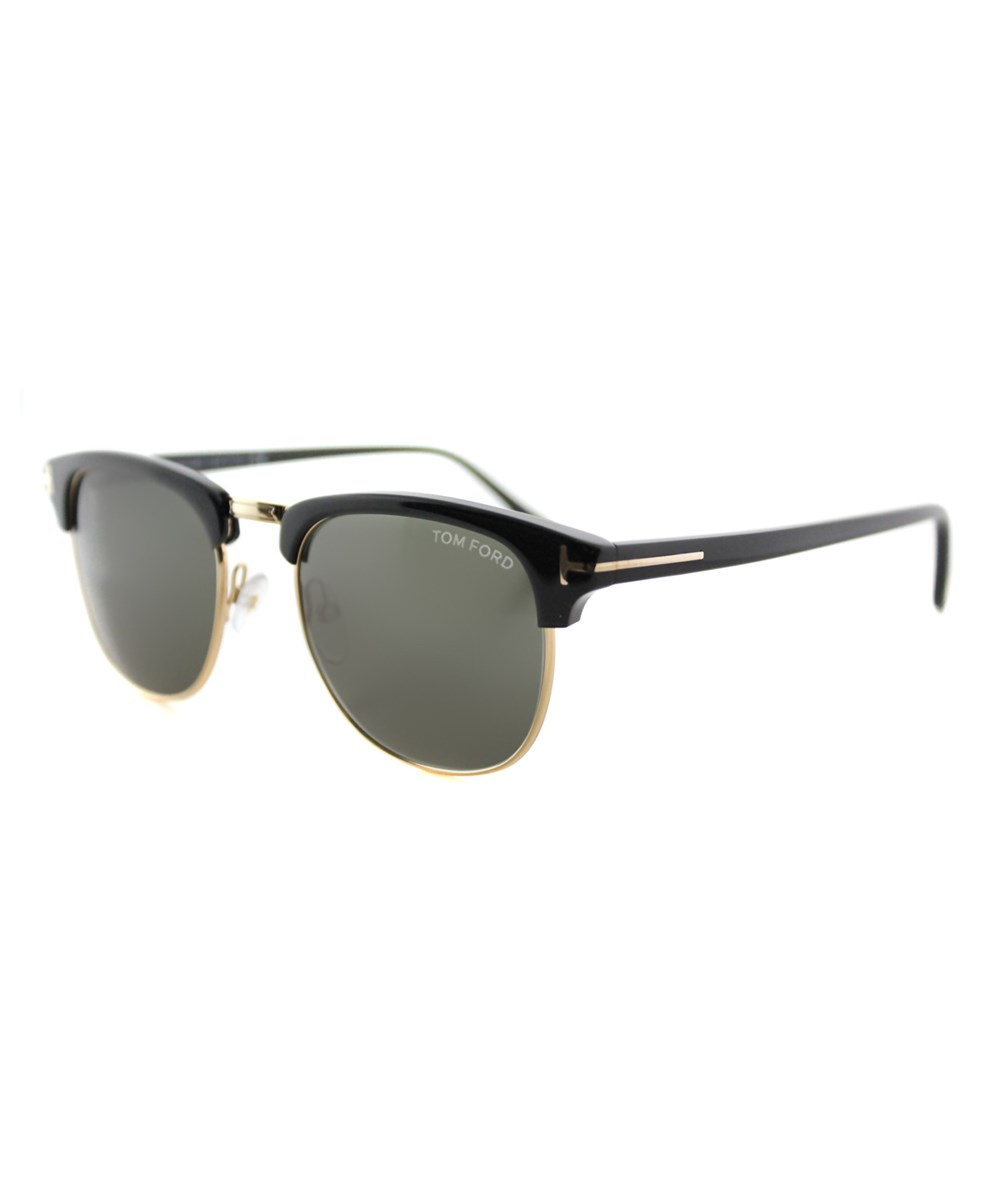 Tom Ford Henry Round Plastic Sunglasses In Black