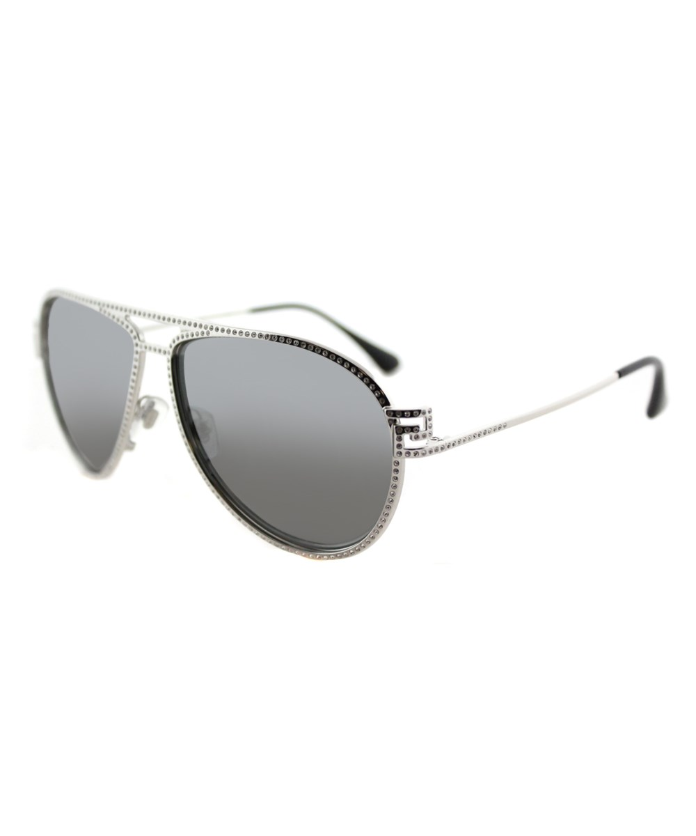 Versace Aviator Metal Sunglasses In Silver