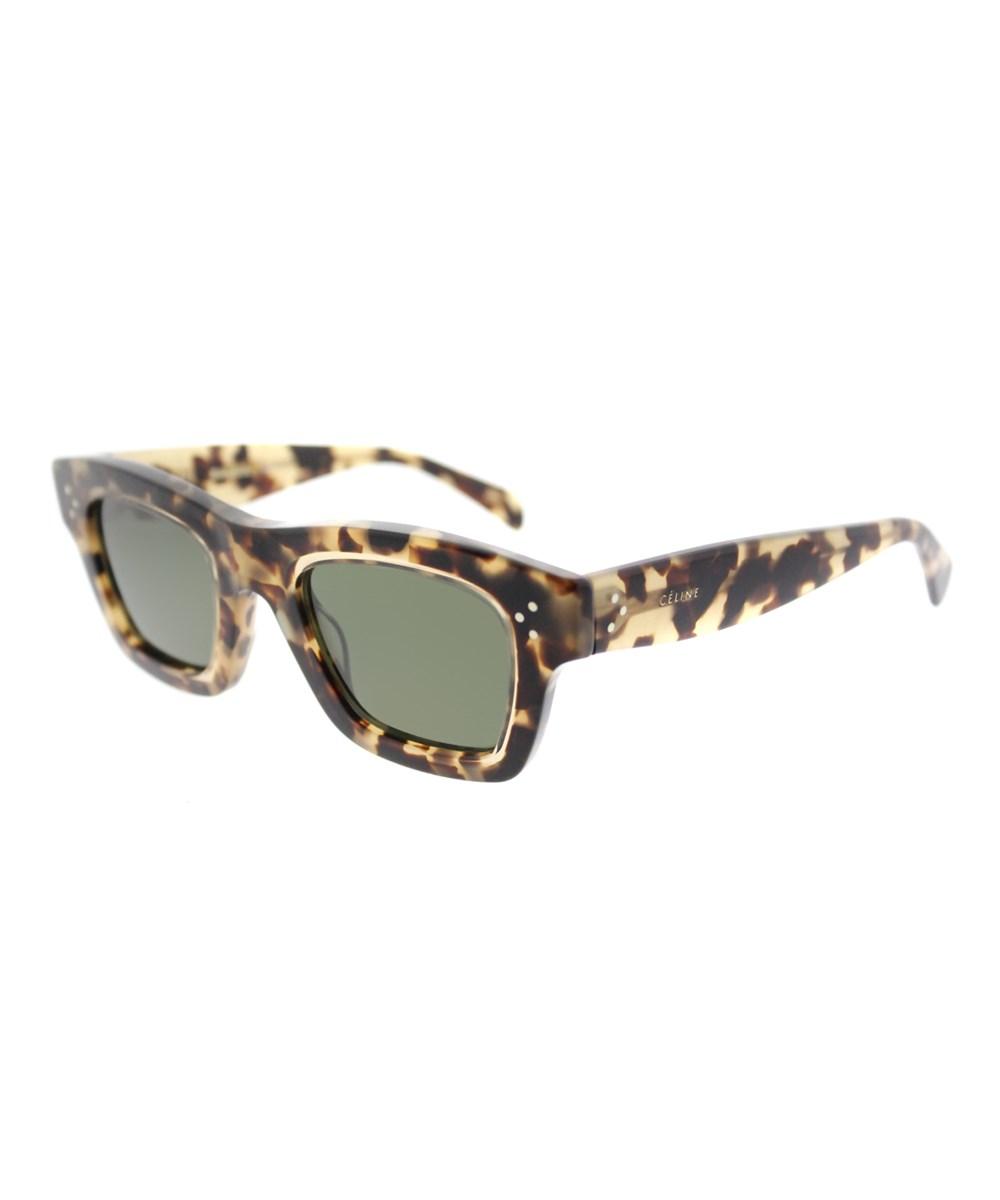 Celine Gaby Rectangle Plastic Sunglasses In Brown