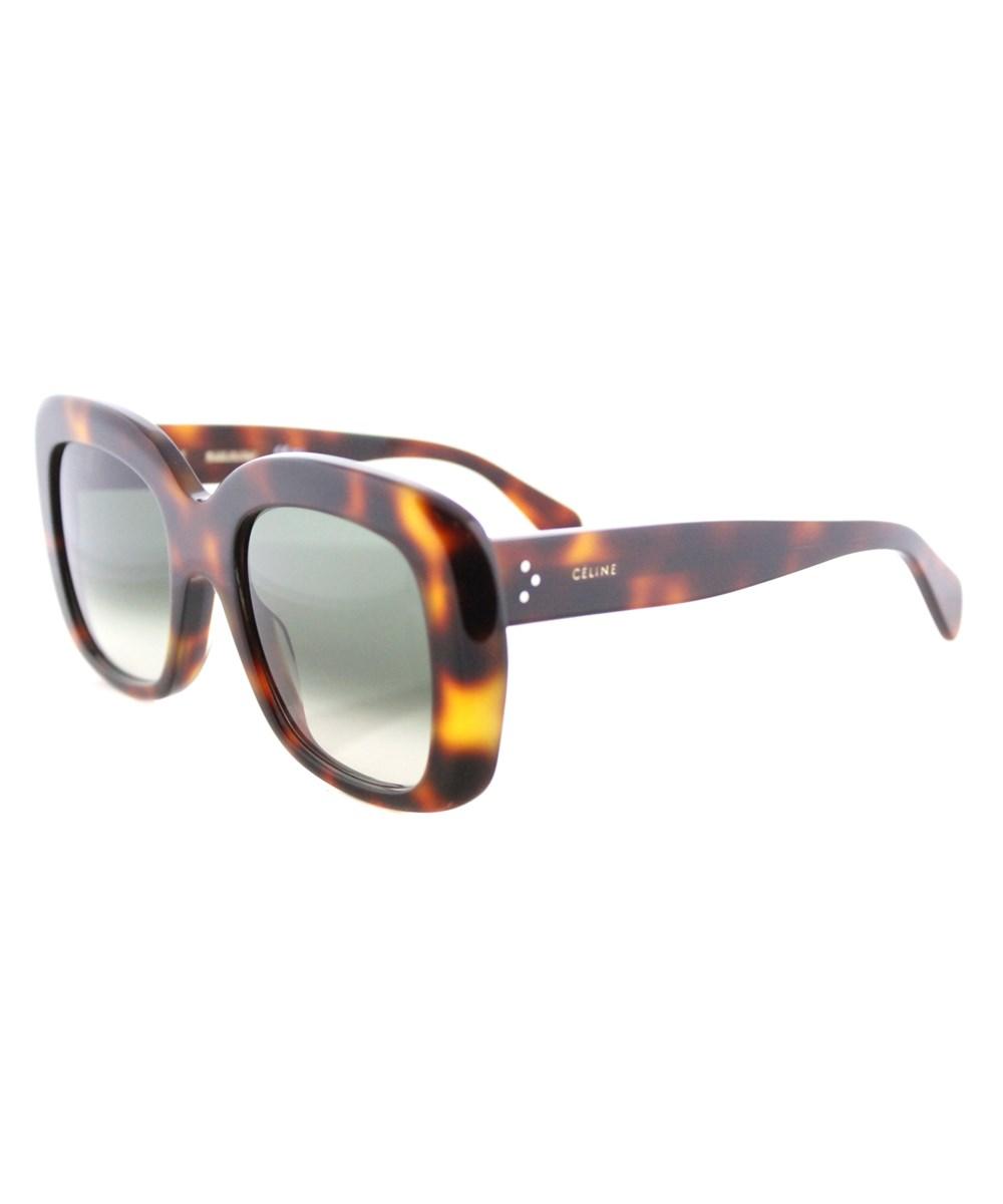 Celine Square Plastic Sunglasses In Brown