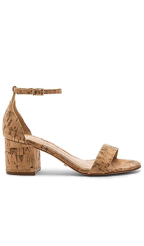 Schutz Roama Block Heel Sandal In Natural