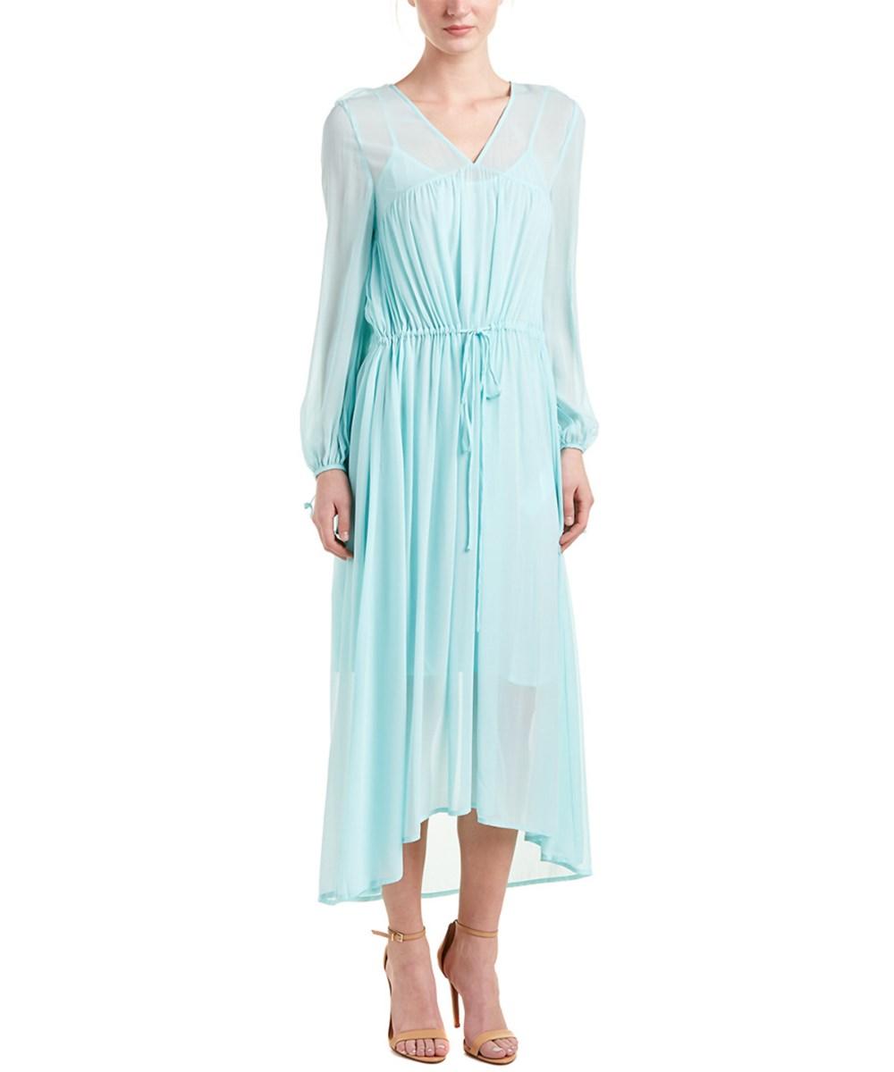 Maje Rutabaga Maxi Dress In Mint