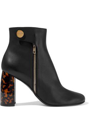 Stella Mccartney Tortoiseshell Heeled Ankle Boots In Black