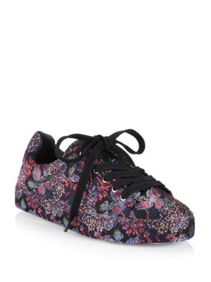 Schutz Oriana Printed Low-top Sneakers In Multi