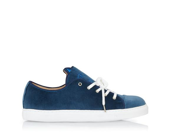 Charlotte Olympia Purrrfect Sneakers In Blue