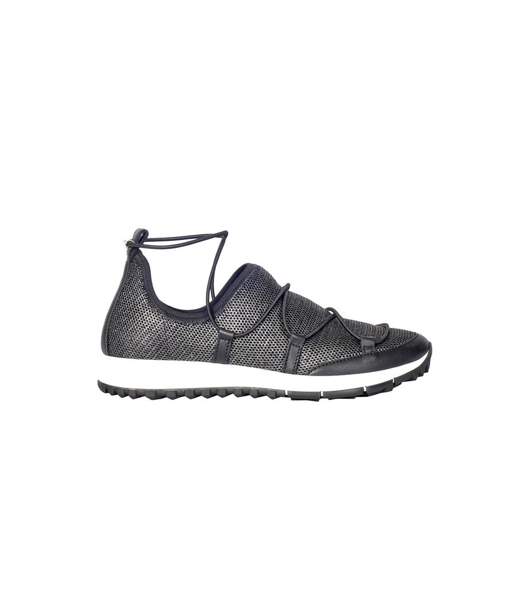 Jimmy Choo Women's  Grey Fabric Sneakers