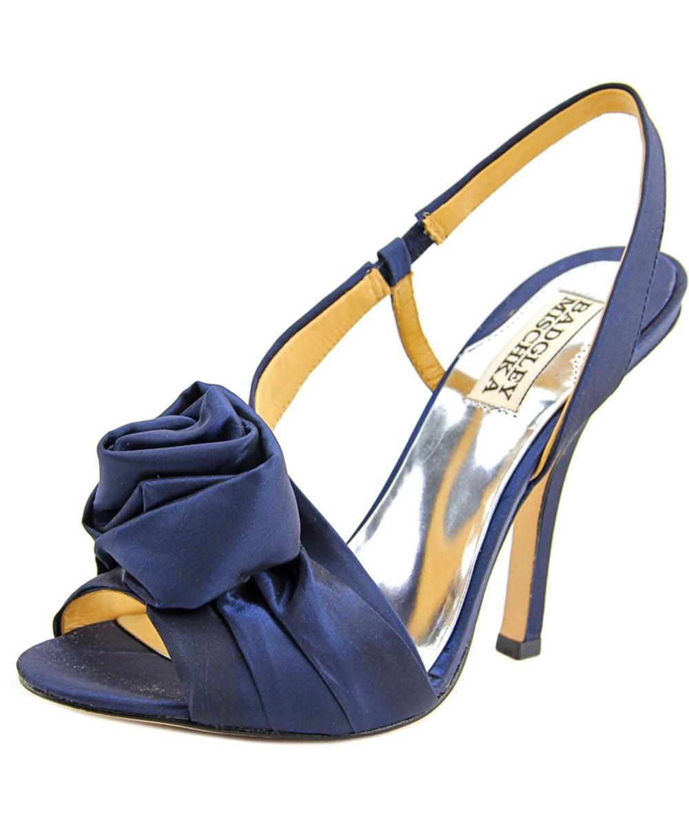 Badgley Mischka Lanah Women  Open-toe Canvas Blue Slingback Heel