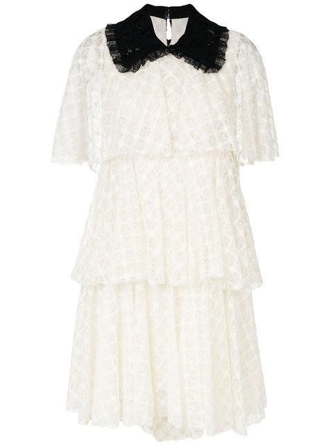 Philosophy Di Lorenzo Serafini Tiered Lace Dress In White