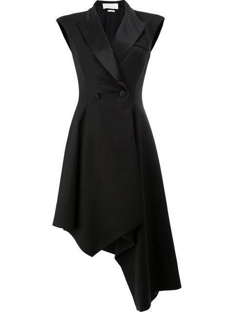 Monse Asymmetric Wool-blend Jacket In Black