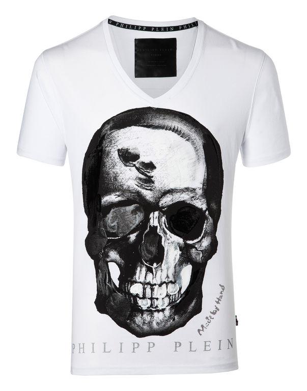 "Philipp Plein T-shirt V Neck Ss ""paint Three"""