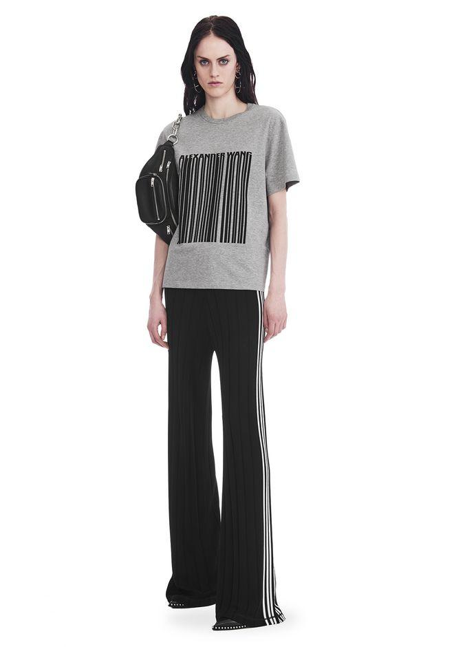Alexander Wang Exclusive T-shirt With Bonded Barcode In Gray