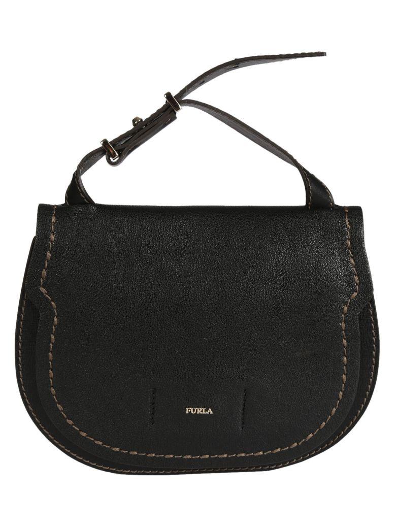 Furla Gioia Saddle Bag In Onyx
