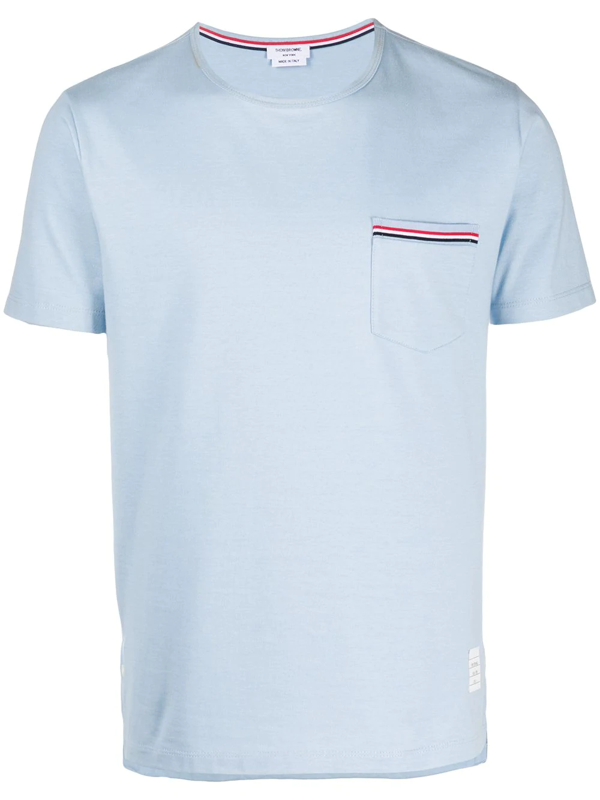 Thom Browne Blue Jersey Striped Chest Pocket T-shirt