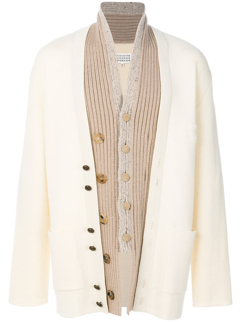 Maison Margiela Layered Placket Cardigan