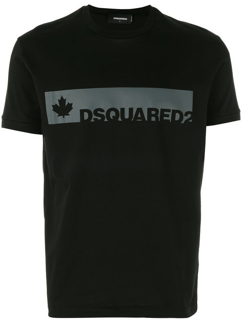 Dsquared2 Teal Logo T-shirt In Nero