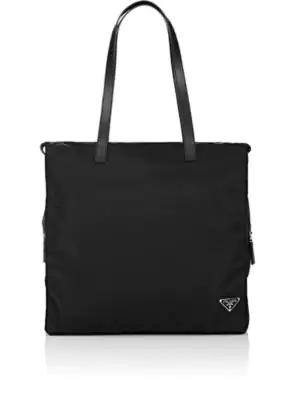 de2d75ef9023 Prada Men's Nylon Tote Bag, Black (Nero) | ModeSens