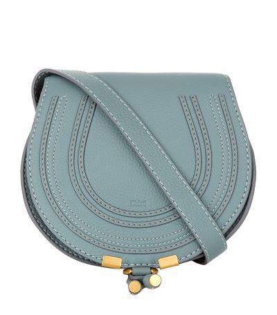 ChloÉ Mini Marcie Cross Body Bag In Rainy Blue