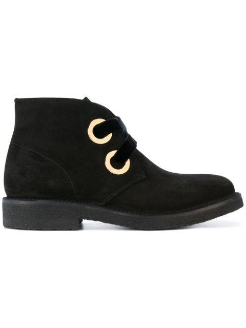 Rupert Sanderson Lester Velvet-trimmed Suede Ankle Boots In Black