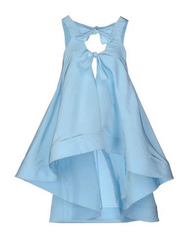 Rosie Assoulin Silk Top In Sky Blue