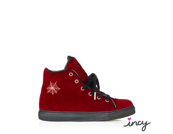 Charlotte Olympia Incy Purrrfect High Tops In Red