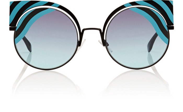 494d1fb49e72 Fendi Ff 0215 S 00Lb Hypnoshine Matte Turquoise Cat Eye Sunglasses ...