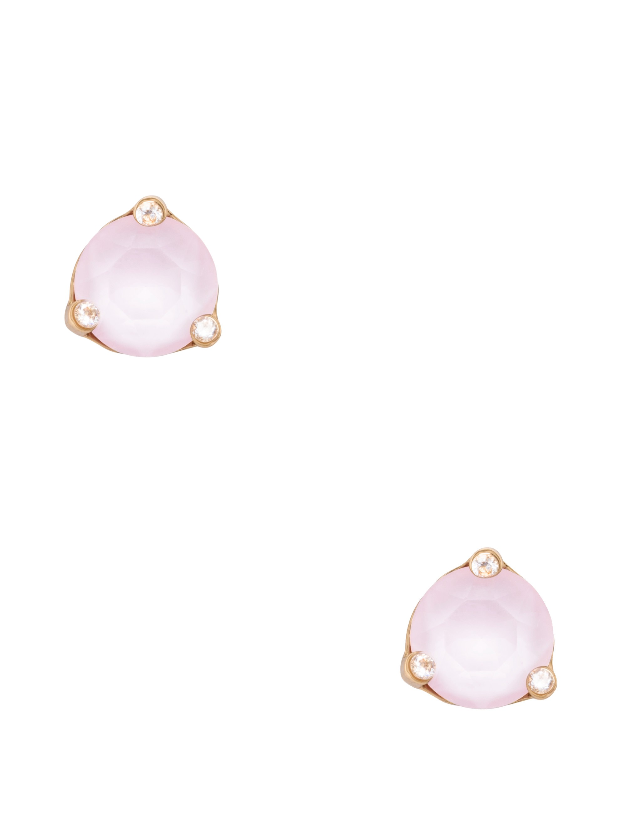 Kate Spade Rise And Shine Small Studs In Light Pink