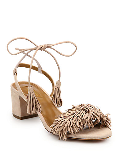 5c2b00ed1b71 Aquazzura Exclusive To Mytheresa.Com – Wild Thing 50 Suede Sandals In  Vintage Pink