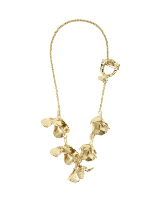 Valentino - 3 D Flower Pendant Necklace - Womens - Gold
