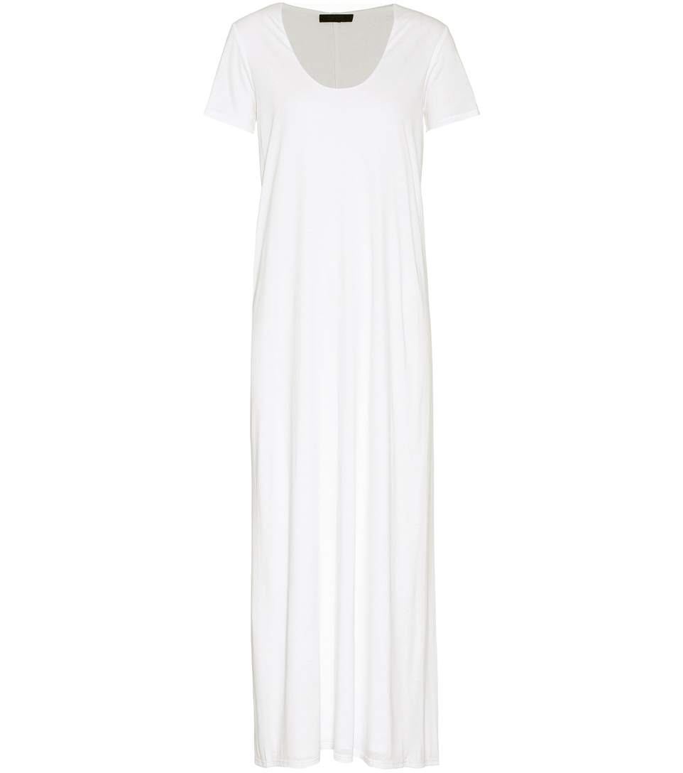 The Row Melen Jersey Dress In White