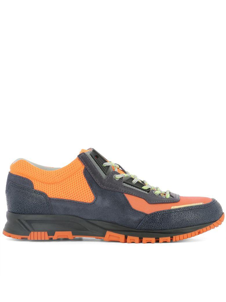 Lanvin Blue Suede Sneakers In Multicolor