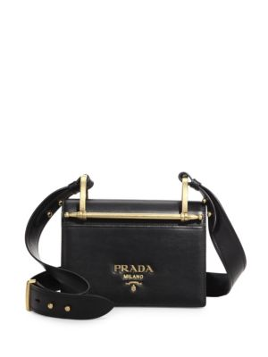 e6126662128f Prada Pionerre Small Flap Crossbody Bag In Black