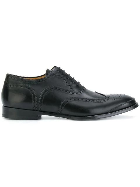 Alexander Mcqueen Lace-Up Leather Brogues In Black