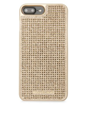 Michael Kors Embellished Glitter Iphone 7 Case In Gold