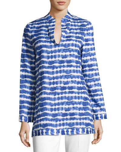Tory Burch Tie-dye Cotton Tunic, Multi