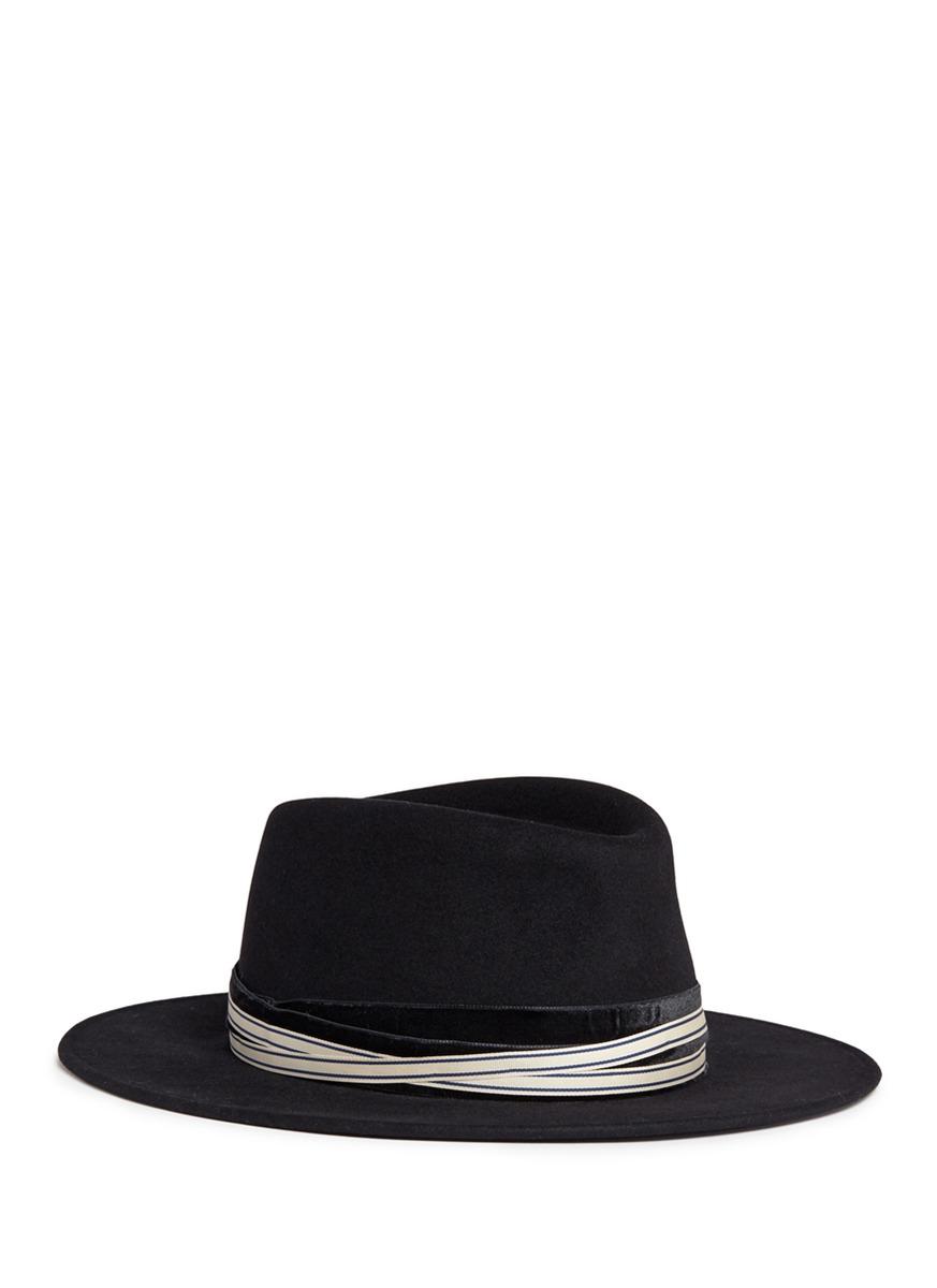 Maison Michel 'thandee' Rabbit Furfelt Fedora Hat