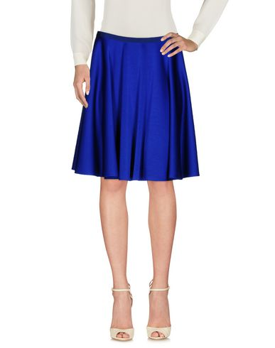 Paule Ka Knee Length Skirt In Bright Blue