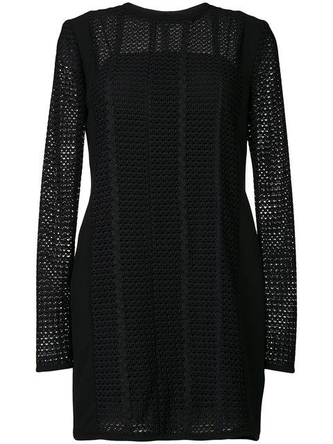 Victoria Victoria Beckham Panelled Shift Dress In Black