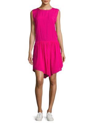 Iro Olivia Sleeveless T-back Dress In Fuchsia