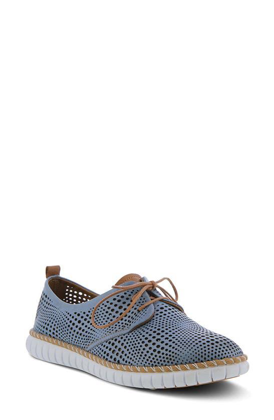 Spring Step Kalene Loafer In Blue Leather