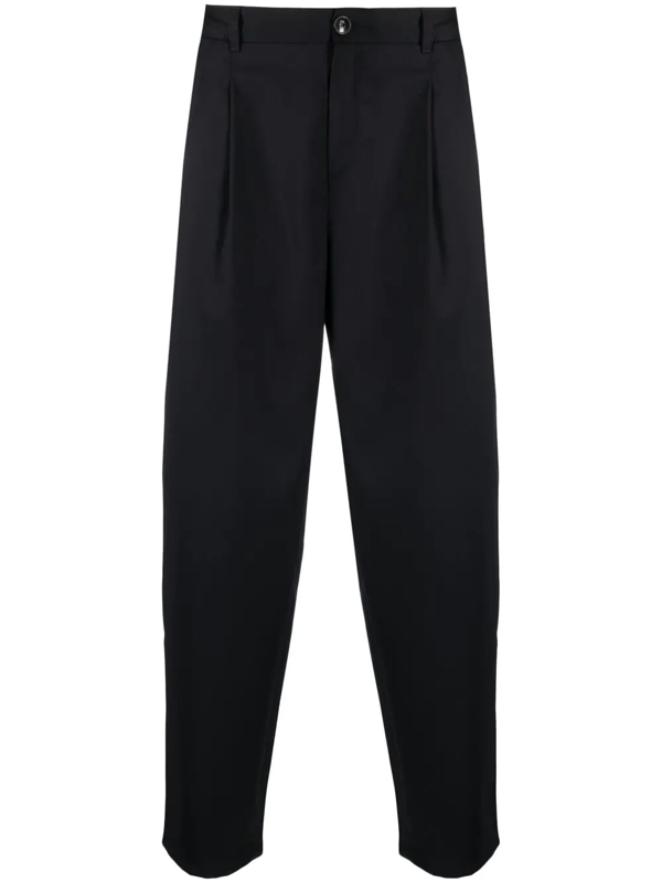A Kind Of Guise Pleated Wide Leg Trousers In Blue