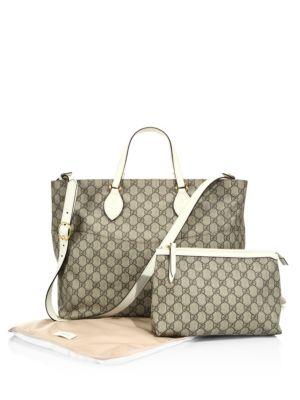 5fe93c29a00 Gucci Soft Gg Supreme Diaper Bag In Beige Multicolor