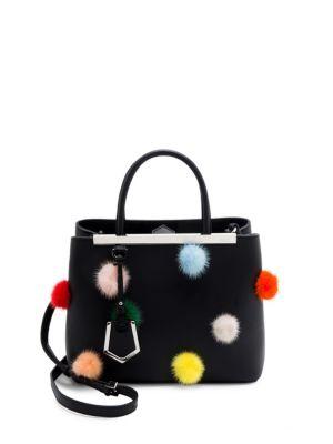 Fendi Petite2jours Genuine Mink Fur & Leather Shopper - None In Black
