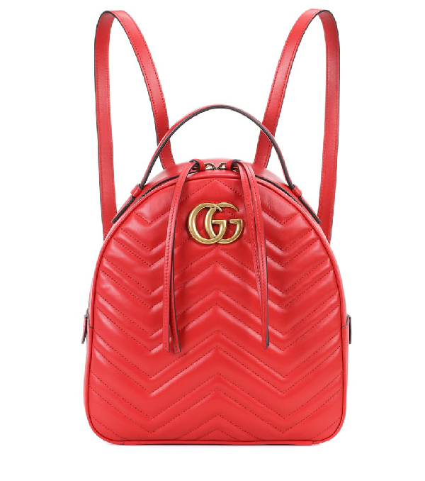 696151b7496 Gucci Gg Marmont MatelassÉ Leather Backpack In Red