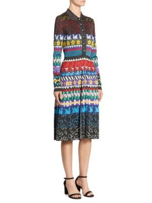 Mary Katrantzou Cecile Pleated Lurex Jacquard-Knit Midi Dress In 888 Multi 3409273fc