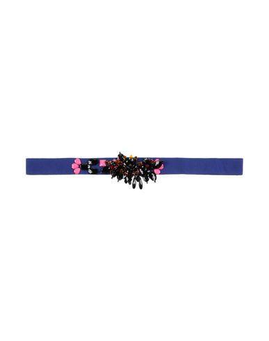 Msgm Regular Belt In Dark Blue